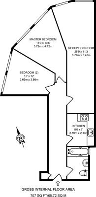 Large floorplan for Euston Road, Fitzrovia, NW1