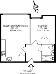 Large floorplan for Aegean Apartments, Royal Docks, E16