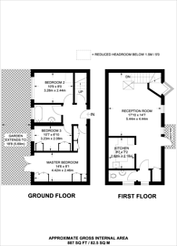 Large floorplan for Chichester Way, Isle Of Dogs, E14