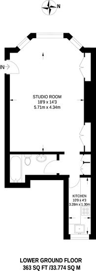 Large floorplan for Campden Hill Gardens, Kensington, W8