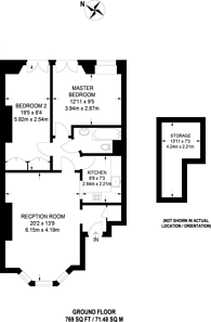 Large floorplan for Holland Road, Holland Park, W14