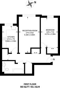 Large floorplan for Adelaide Road, Surbiton, KT6