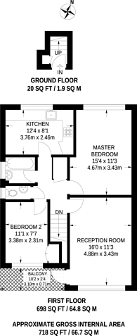 Large floorplan for Lovelace Road, Surbiton, KT6
