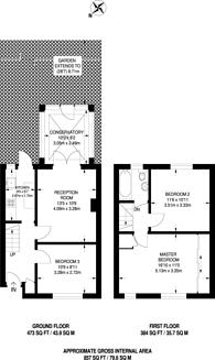 Large floorplan for Pendragon Road, Downham, BR1