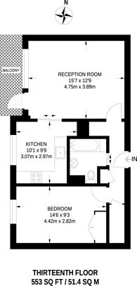 Large floorplan for Daubeney Road, Clapton, E5