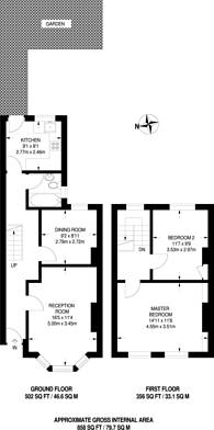 Large floorplan for Cricketfield Road, Hackney, E5