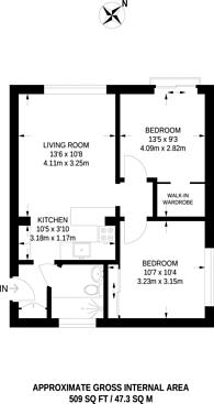 Large floorplan for Dunraven Drive, Enfield, EN2
