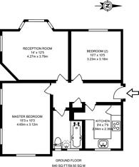 Large floorplan for Denison Close, Hampstead Garden Suburb, N2