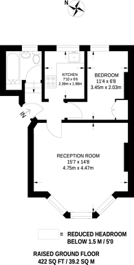 Large floorplan for Whiteley Road, Crystal Palace, SE19