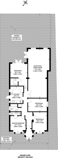 Large floorplan for Salisbury Road, Worcester Park, KT4