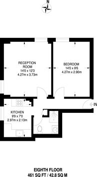 Large floorplan for Sherborne Street, Islington, N1