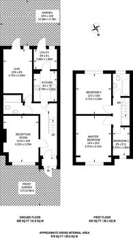 Large floorplan for Montrose Gardens, Mitcham, CR4