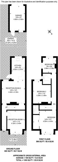 Large floorplan for Baker Lane, Mitcham, CR4