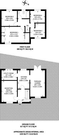 Large floorplan for Southfield, Barnet, EN5
