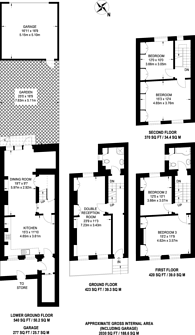 Large floorplan for Addison Bridge Place, Kensington, W14