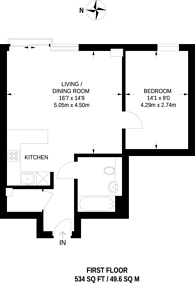 Large floorplan for Pienna Apartments, Wembley, HA9