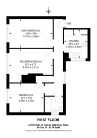 Large floorplan for Saxby Road, Brixton Hill, SW2