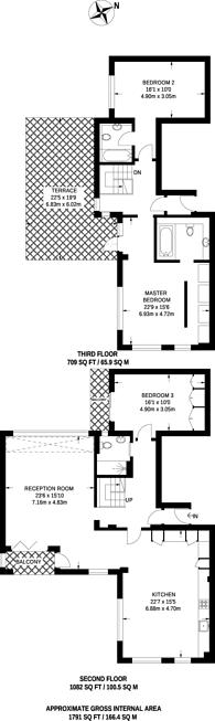 Large floorplan for York Way, Camden, N7