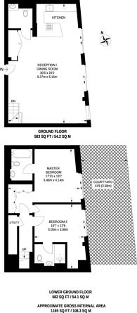Large floorplan for High Street Kensington, High Street Kensington, W14