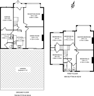 Large floorplan for Hook Rise South, Surbiton, KT6