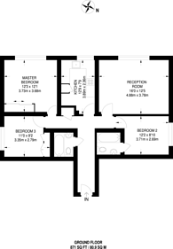 Large floorplan for St Albans House, Streatham, SW16
