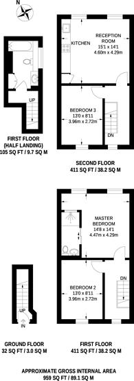 Large floorplan for Kentish Town, Kentish Town, NW5
