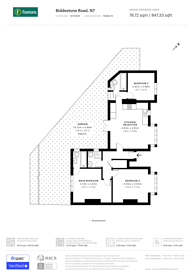 Large floorplan for Biddestone Road, Holloway, N7