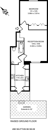 Large floorplan for Ifield Road, South Kensington, SW10