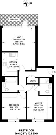 Large floorplan for Ellis House, Ealing, UB1