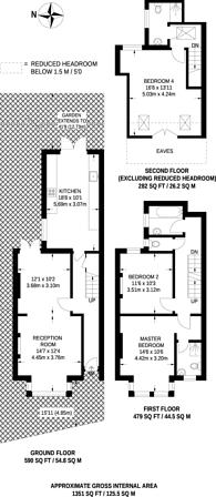 Large floorplan for Whitton Road, Twickenham, TW1