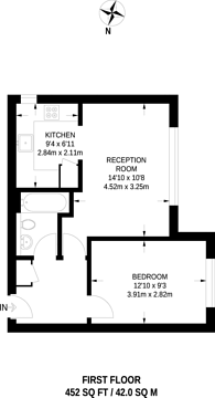 Large floorplan for Varsity Drive, Isleworth, TW1