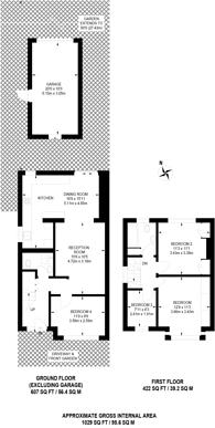 Large floorplan for Burnside Crescent, Alperton, HA0