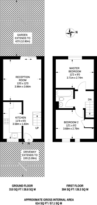 Large floorplan for Turnstone Close, Plaistow, E13