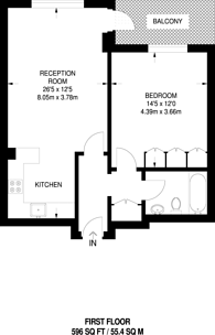 Large floorplan for Porchester Terrace, Bayswater, W2