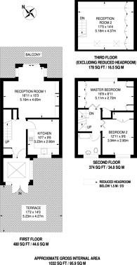 Large floorplan for Kerbey Street, Poplar, E14
