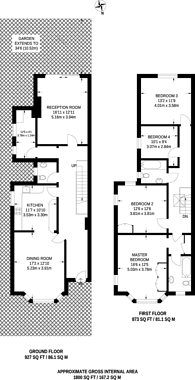 Large floorplan for Golders Green, Golders Green, NW11