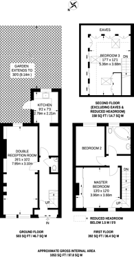Large floorplan for Vale Road, Sutton, SM1
