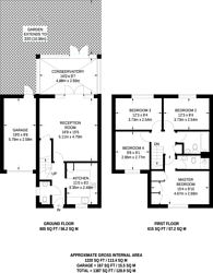 Large floorplan for East India Way, Croydon, CR0