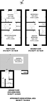 Large floorplan for Foxley Close, Dalston, E8