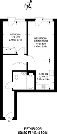 Large floorplan for Kew Bridge Apartments, Kew Bridge, TW8