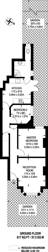 Large floorplan for Carshalton Grove, Carshalton, SM1