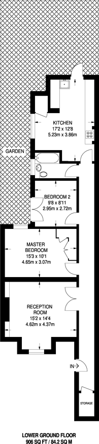 Large floorplan for Tamworth Street, West Brompton, SW6