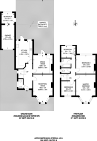 Large floorplan for Summers Lane, North Finchley, N12