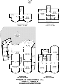 Large floorplan for Vineyard Hill Road, Wimbledon, SW19