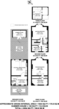 Large floorplan for Ridgway Place, Wimbledon Village, SW19