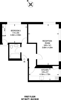 Large floorplan for Wimbledon Village, Wimbledon Village, SW19