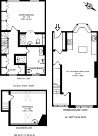 Large floorplan for Tetcott Road, Chelsea, SW10