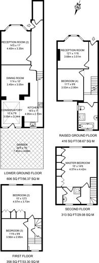 Large floorplan for Averill Street, Hammersmith, W6