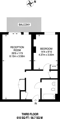 Large floorplan for Peartree Way, Greenwich Millennium Village, SE10