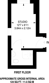 Large floorplan for Arkwright Road, Hampstead, NW3